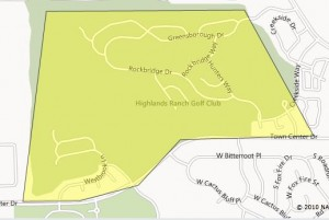 Highlands Ranch Golf Club Map