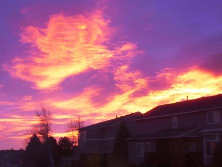 Highlands Ranch CO sunrise