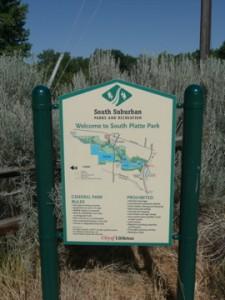 south platte park sign littleton colorado