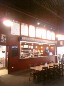 The bar at Santoro's at the Ice Ranch