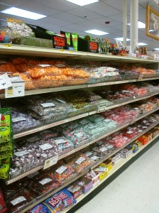 candy shelves at murdochs littleton