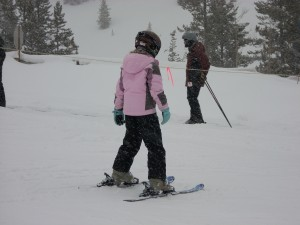 kid on skis at copper mountain